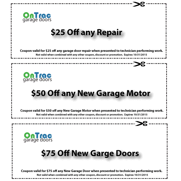 Jacksonville Garage Door Service Discount Coupons